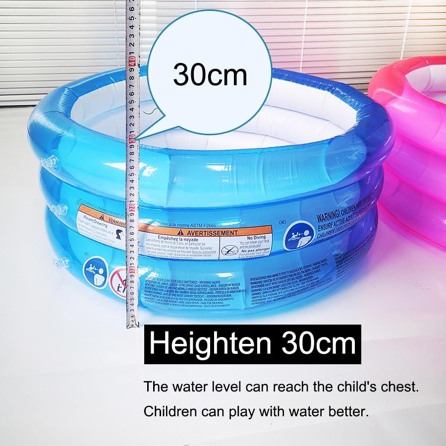 Rehaussez 30 cm piscine gonflable en plastique garçon gril gonflable ronde belle baignoire enfants 3 niveaux salle de douche bébé piscine