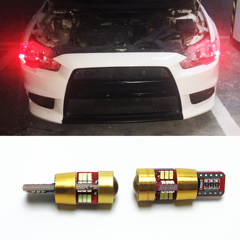 2pcs T10 W5W Canbus No Error 27 SMD 5630 <font><b>LED</b></font> Clearance Lights For <font><b>Mitsubishi</b></font> <font><b>Lancer</b></font> 9 10 <font><b>x</b></font> Outlander Pajero 2 Sport Colt Carisma image