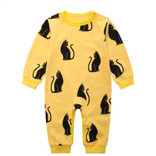Long Sleeve Cartoon Baby Costume Rompers