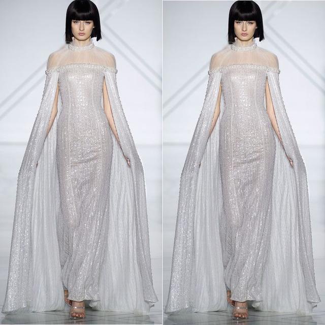 Kleid lang pailletten