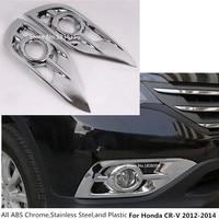 Top For Honda CRV CR V 2012 2013 2014 front fog light lamp detector frame stick styling ABS Chrome cover trim sticks parts 2pcs
