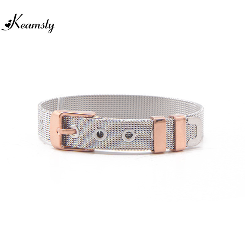 Keamsty New Arrival Stainless Steel Mesh Bracelet fit fot Keeper Charms Bracelets Personalized DIY Jewelry 3pcs/lot Wholesale