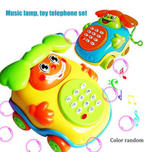 New Baby Electric Phone Cartoon Model Gifts Early Educational Developmental Music Sound Learning Toys FJ88
