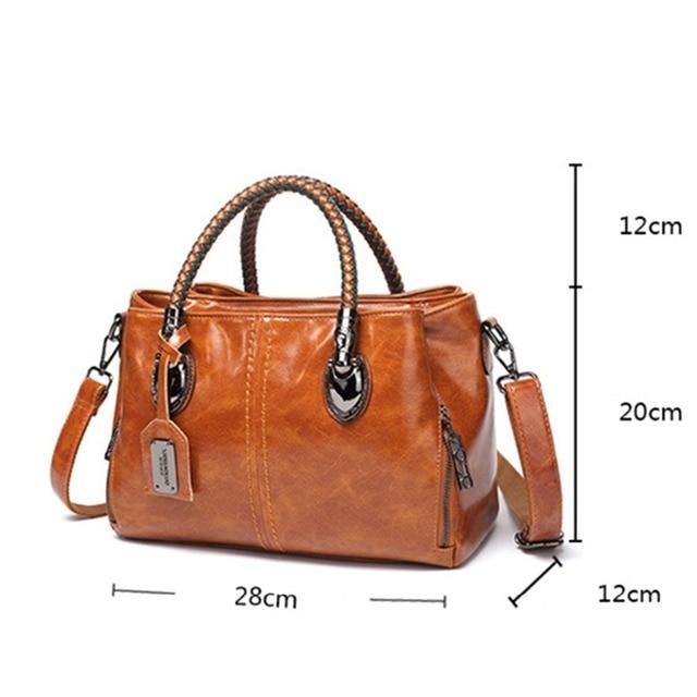 Luxury Brand 100% Genuine Leather Women's Messenger Bags Ladies Handbags High Quality Designer Shoulder Tote Bag For Female 2