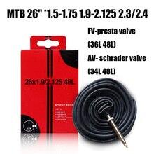 """Catazer 1 sztuk 26 """"* 1.5-1.75 1.9-2.125 2.3/4 MTB dętka opona rowerowa akcesoria rowerowe AV FV francuski zawór zawór presta 48L"""