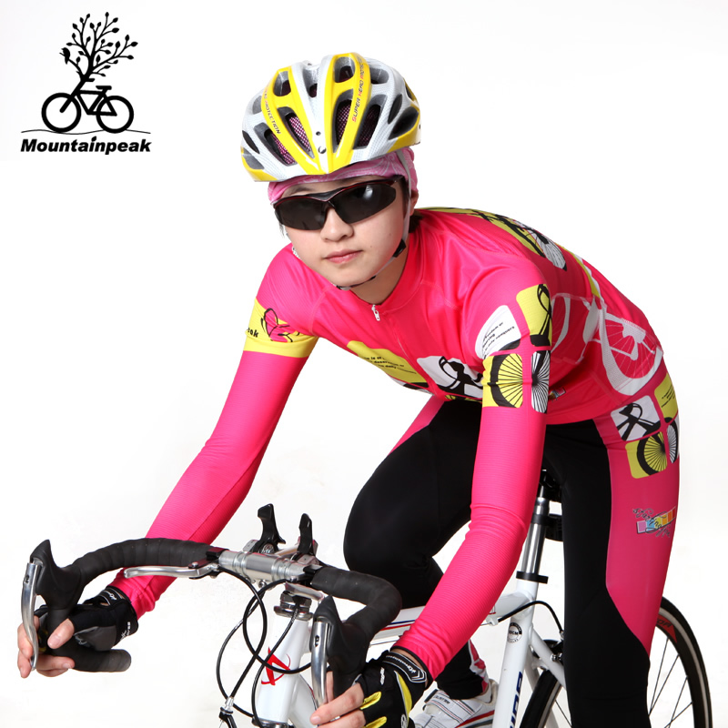 ФОТО Leisurely Riding Clothes Long Sleeved Suit Women Riding Pants Suit The Spring and Summer Bicycle Riding Equipment