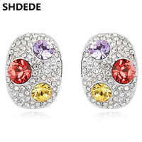 SHDEDE Monili di Marca di Modo di Alta Qualità di Cristallo Austriaco Orecchini Per Le Donne Della Corea Trendy Accessori. 8440