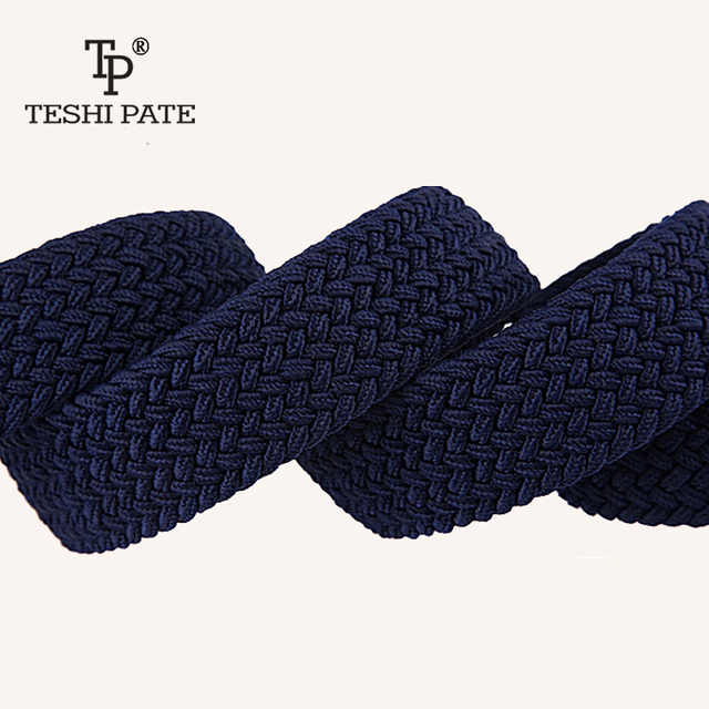 elastic belt knitted canvas belt decoration belt female pin buckle canvas strap women and man 2018 2