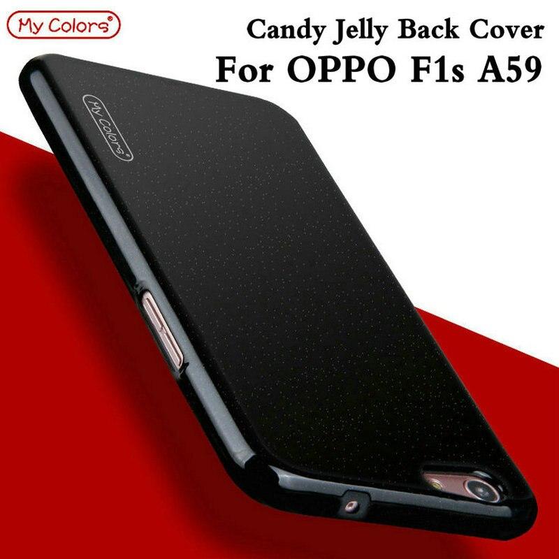 Мои цвета Мягкие TPU силикона конфеты прозрачная задняя крышка для <font><b>OPPO</b></font> F1s A59 5.5 дюймовый тонкий ультра тонкий чехол для телефона САППУ Coque