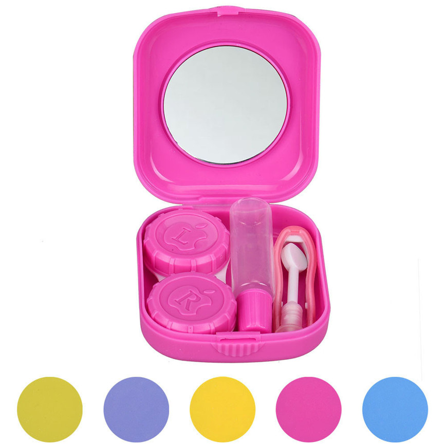 The Best New Cute Mini Contact Lens Easy Carry Case Travel Kit Levert Dropship 2july19