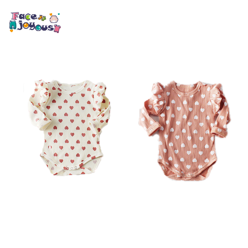 Baby Girl   Rompers   2019 Spring Ruffles Baby Clothes For Girls Jumpsuit 100% Cotton Long Sleeve Infant Newborn Baby   Rompers   Boys
