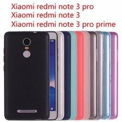 Xiaomi redmi note 3 pro housse etui En Silicone pour xiaomi redmi note 3 pro premier Cristal et couleur unie doux Mat