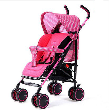 Carrinho de bebê carrinho de bebê guarda-chuva carro BB crianças pode sentar de leve portátil dobrável