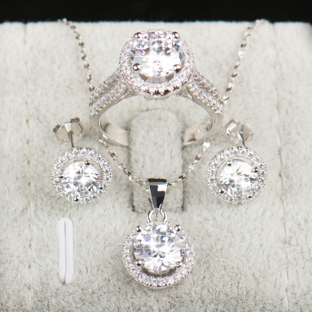 90% popusta Vjenčani nakit za mladenke 925 Sterling Silver AAAAA - Modni nakit - Foto 2