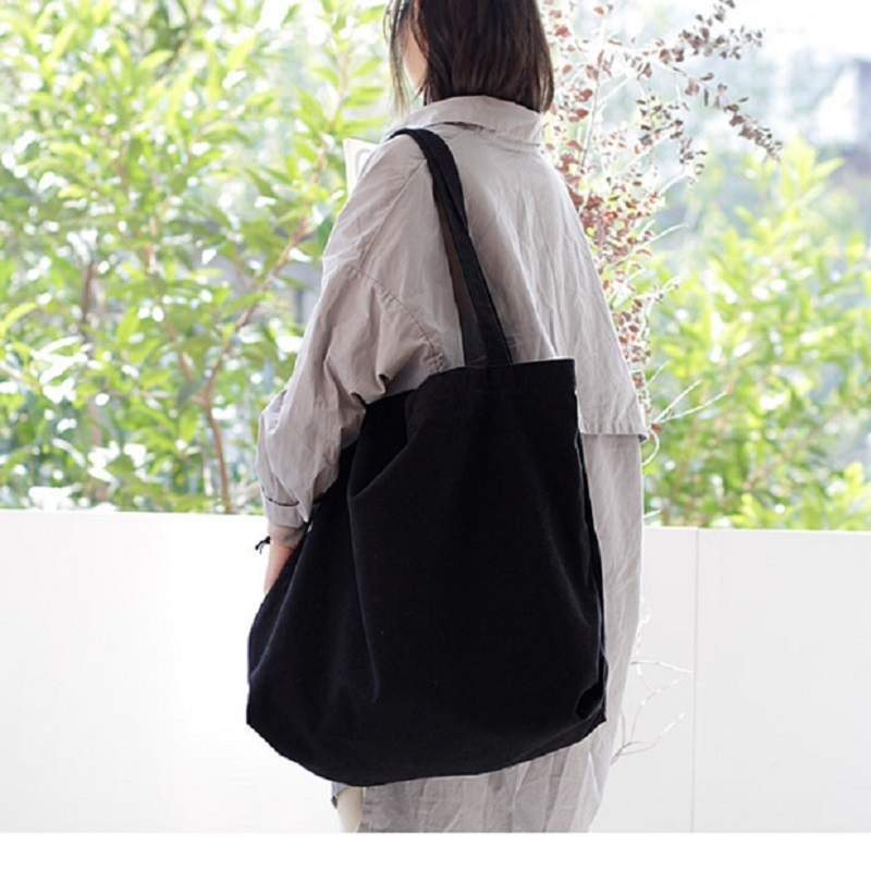 2018 Big Bag Extra Large Casual Shoulder Bags Woman Canvas Bag Solid Color Shopper Bags Beach Totes Wholesale Dropshipping hs rhyme canvas woman stripe bags ladies bags korean color shoulder diagonal color canvas bag in three chains