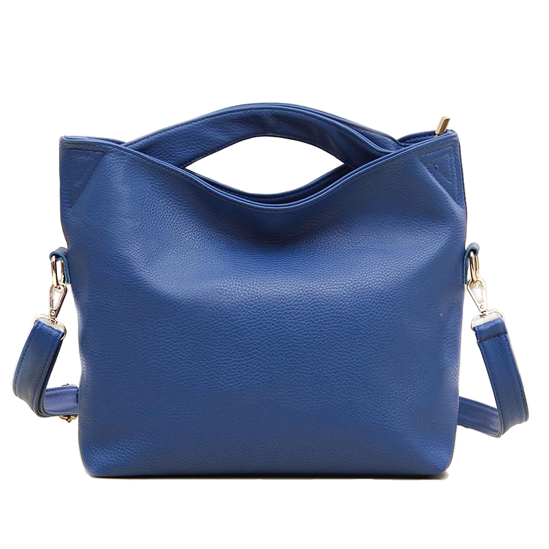 new Brand design blue black orange small leather ladies women female hobos tote