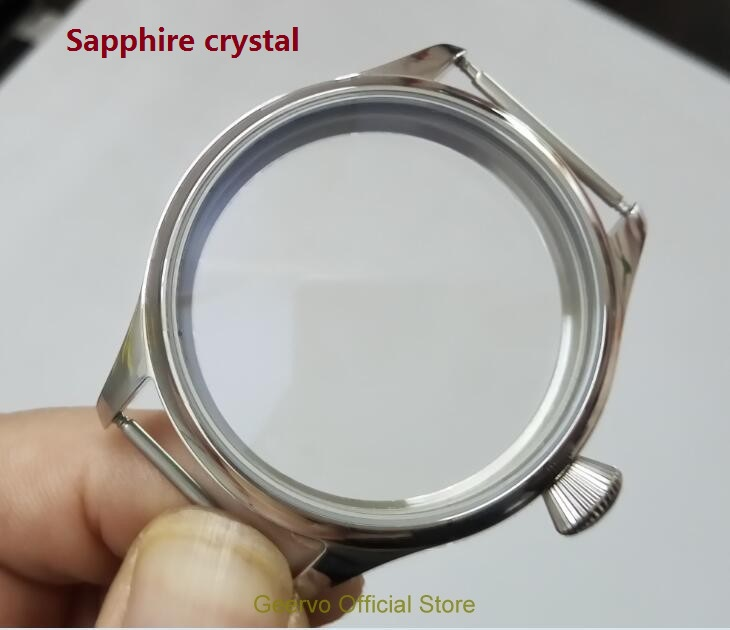 Sapphire crystal 44mm High quality 316L Stainless steel watch cases fit 6497/6498 Mechanical Hand Wind movement 04A | Fotoflaco.net