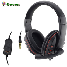 Headphones 3.5mm Wired Gaming Headset Earphones Music Microphone For PS4 Play Station 4 Game PC Chat