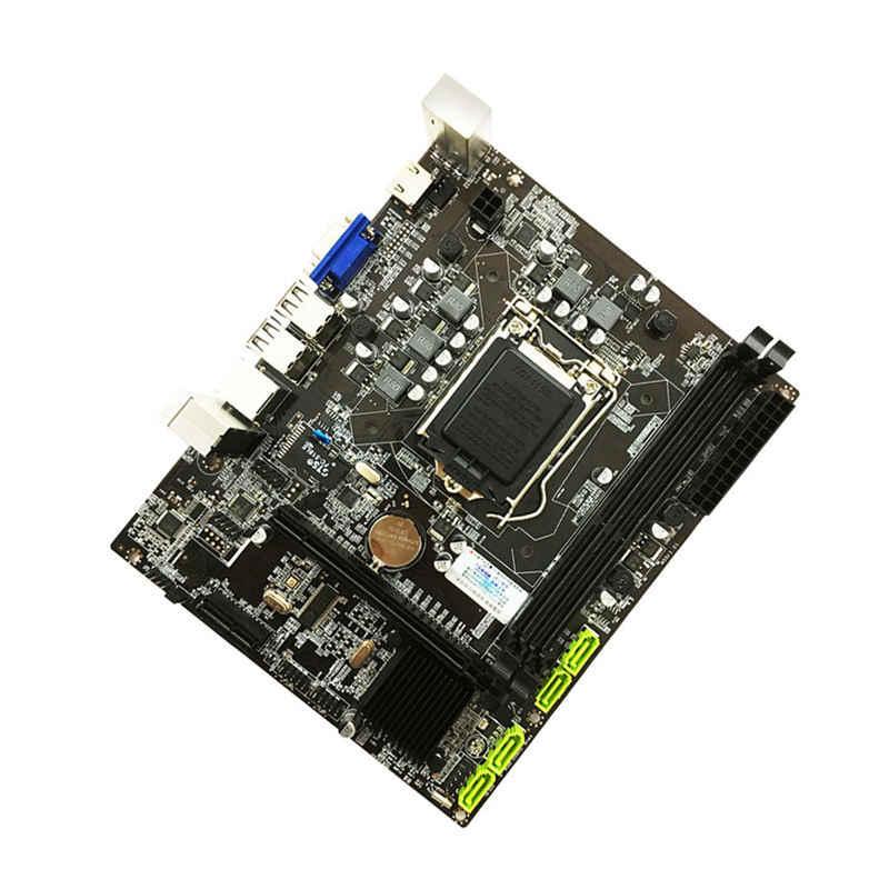 H55 Papan Utama LGA1156 DDR3 16 Gram Dual SATA 2.0 4 Xusb 2.0 PCI-Express Mainboard Mendukung I3 I5 I7 CPU Komputer