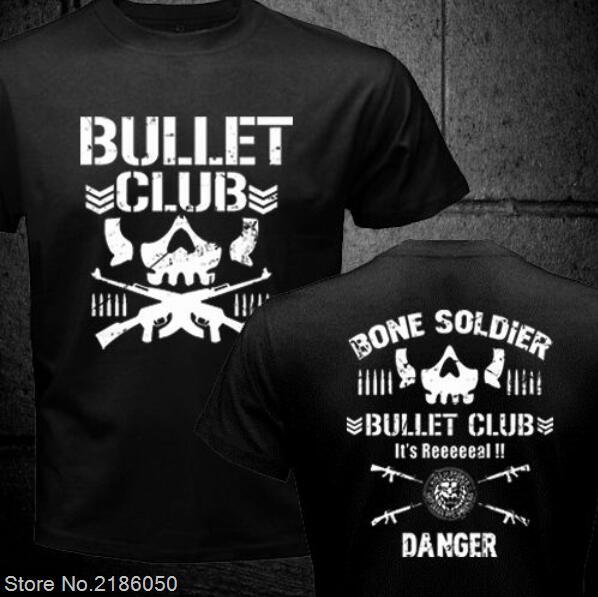 c74d035d21cc5 NEW Bullet Club New Japan Pro Wrestling Puroresu Njpw 2 Side Black T-Shirt  Men