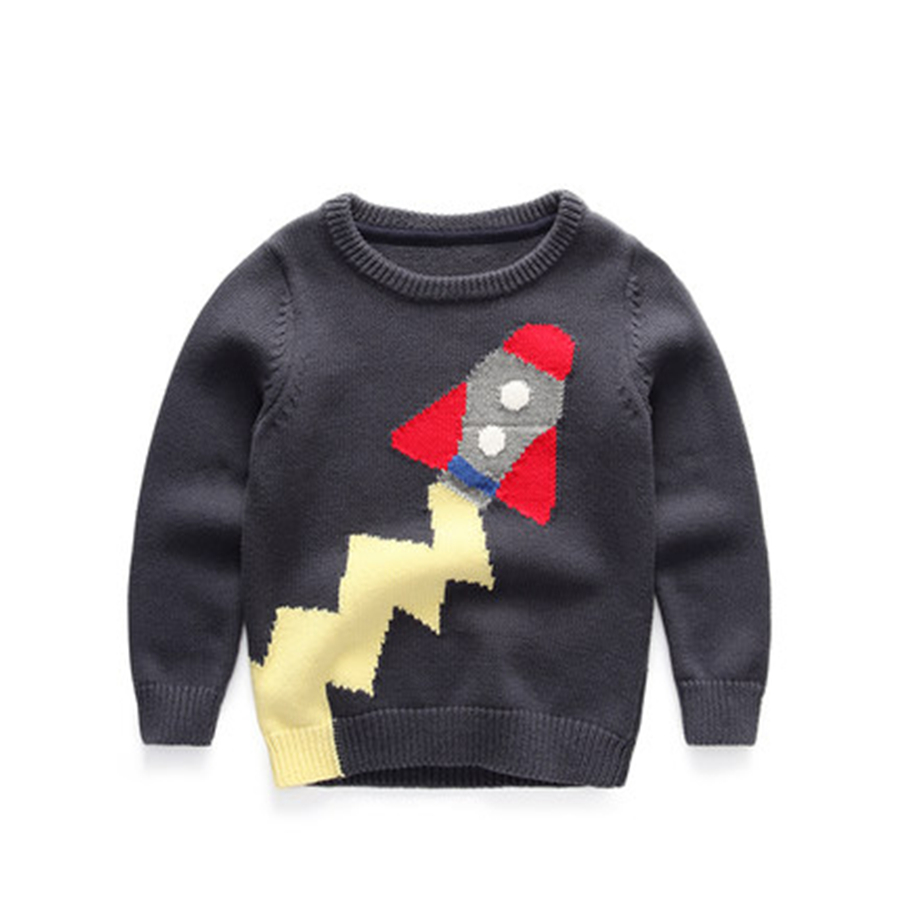 Hot Sale Kids Sweater Boys Sweater Children Autumn Winter O-Neck Cotton Long Sleeve Boy Sweaters For Kids Warm 60W0028 warm thicken baby rompers long sleeve organic cotton autumn