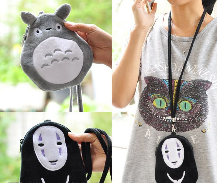 Black Mask Man 15cm Plush Neck String Coin Bag Case Id Bus Cards Bag Holder Case Original Cute Cat Coin Purse Wallet Pouch Case Reputation First