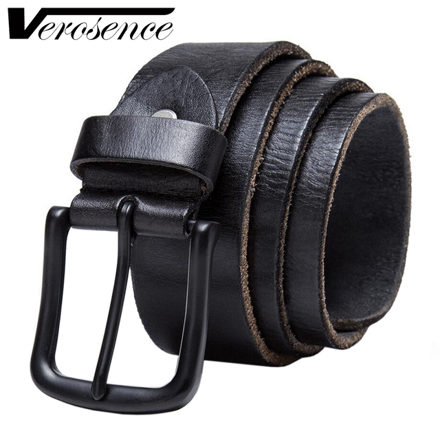 [TG] New Designer genuine leather Mens Belt Big Buckle Luxury Belts For Men High Quality Brand Ceinture Cow leather waisitband