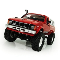 WPL C 24 1/16 Scale RC Car Rock Crawler 4WD Off road Military Truck Best Toy Red