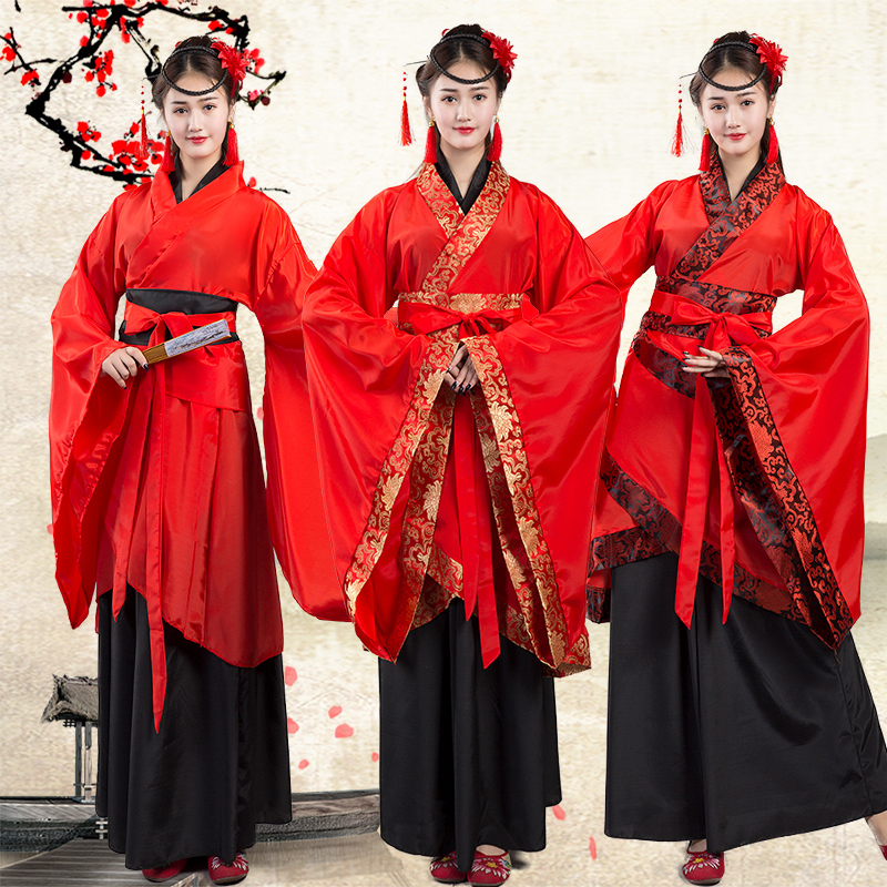 New Ritual State Women's Ancient Dress Han Dress Double Winding Song Fu Xuanji Stage Classical Dance Costume Antique Red