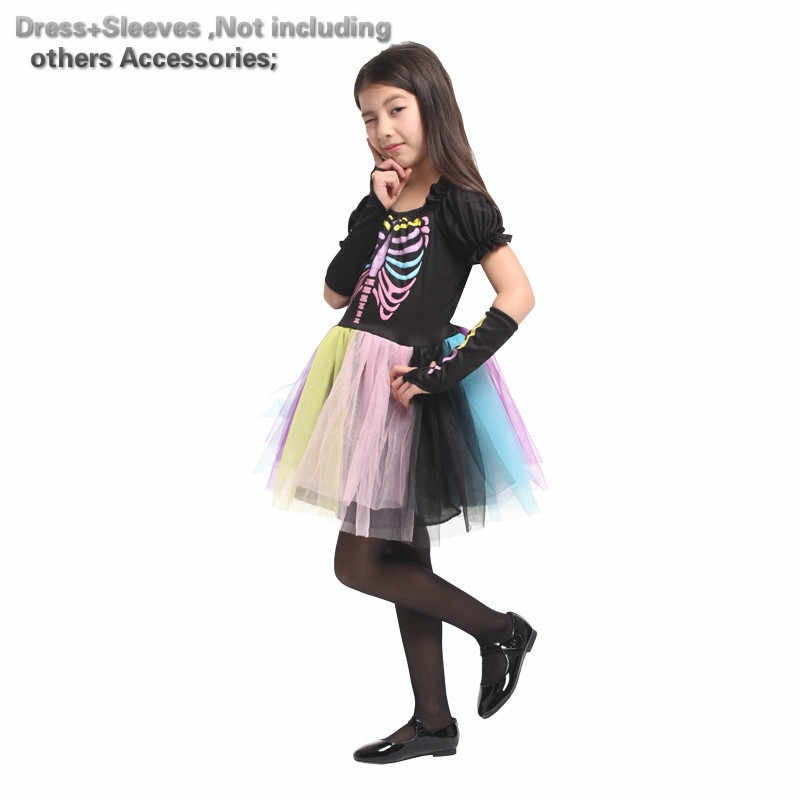 Halloween Costumes For Kids Scary.Scary Skeletone Halloween Costume For Kids Witch Animal Princess Girl Children Child Scary Clown Costumes Kid Fancy Dress Party