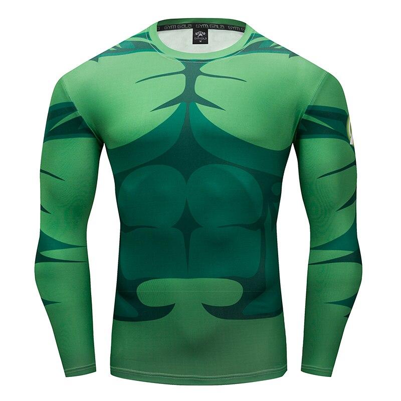 Gyms mens fitness T-shirt 3D Superhero Warrior Hulk/Avenger Cosplay Compression Shirt work out Bodybuilding Slim T-shirt