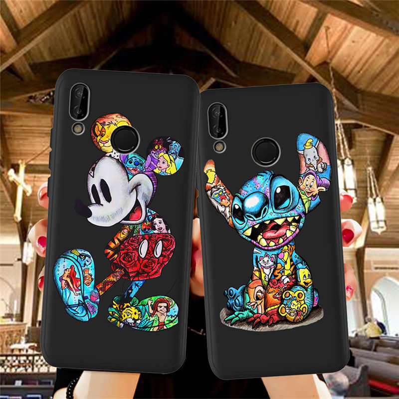 Kartun Groot Stitch untuk Huawei P8 P10 P20 P30 Mate 10 20 Honor 8 8X 8C 9 V20 20i 10 lite Plus Pro Case Cover Coque Etui Joker