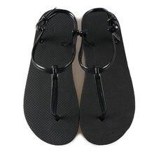 Summer Women Sandals T Stripe Flat Sandals female Gladiator Sandals Basic Slippers Flip Flops Beach Shoes Zapatos De Mujer