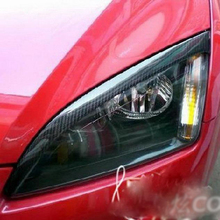 for 2005-2008 Ford focus Carbon Fiber Headlight Eyebrows Eyelids Cover