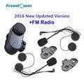 Versión actualizada!! FreedConn VB T-COM BT Bluetooth Motocicleta Intercomunicador Del Casco de Auriculares con Radio FM + Auricular Extra + Soporte