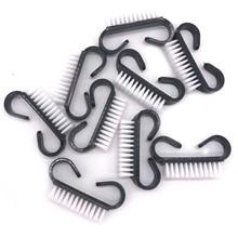 100 pcs/lot Nail art Staub Pinsel Maniküre Werkzeuge Schwarz Reinigung Entfernen Staub Acryl Pinsel Kleine Winkel Weiche Gel nagel reinigung Pinsel