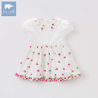 Dave bella baby girls strawberry print dress children princess clothing toddler summer party wedding costumes kids gown DBM7587