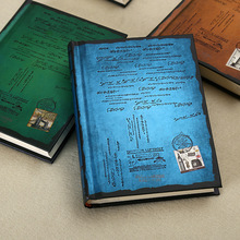 Винтажный блокнот в твердом переплете, бумажный личный дневник, дневник, планер, ретро подарки, канцелярские принадлежности, Офисная школа