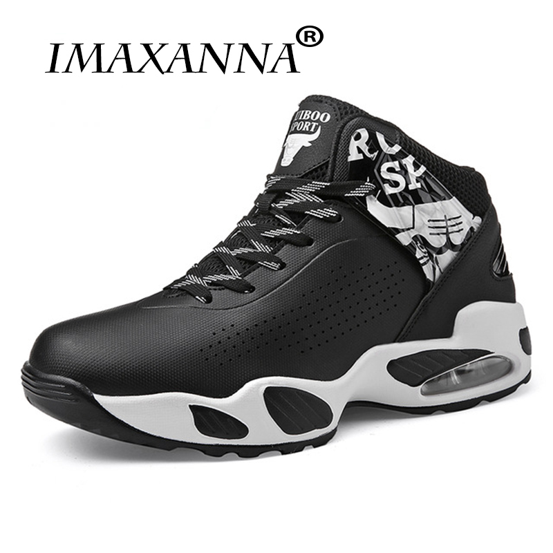 IMAXANNAMan Basketball Boots  Sneakers Men Air Black Red High Top Autumn Training Shoes Children Cushioning Anti-slip Boots cross training shoe
