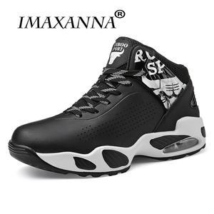 Autumn Training Shoes Sneakers Men Air Black Red High Top Children  Cushioning Anti a019afcdcb
