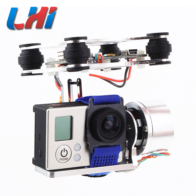 2-Axis brushless Gimbal high definition drone with camera professional Camera Mount w for gimbal quadrocopter 2015 hot sale quadcopter 3 axis gimbal brushless ptz dys w 4108 motor evvgc controller for nex ildc camera