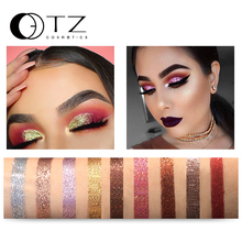 9 Colors Glitters Eye shdow Palette Rainbow Diamond Pressed Glitters Eyeshadows Palette Cosmetic Make Up Glitterinjections  TZ