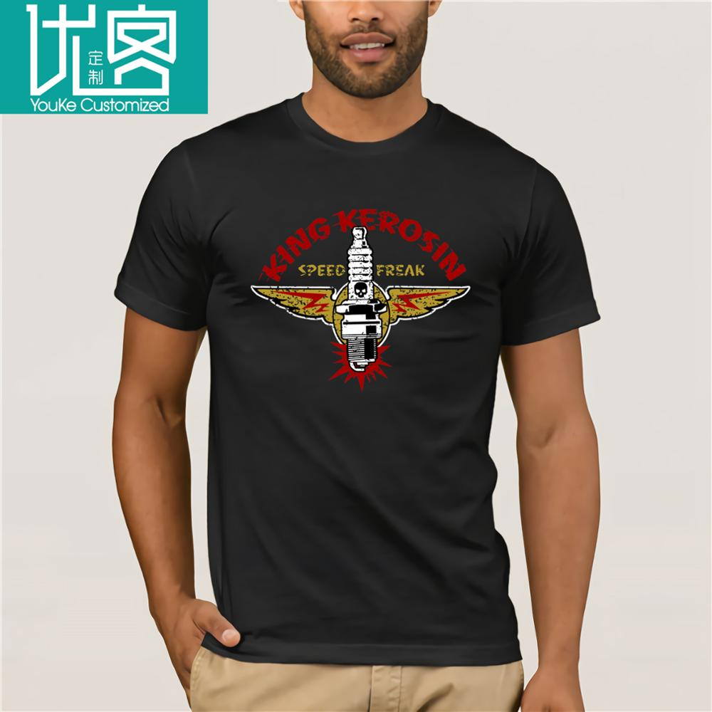 2019 New Mens T Shirts T-Shirt Speedfreak Oldschool Rockabilly Motorrad US Cars <font><b>V8</b></font> Hotrod Tops <font><b>Tshirt</b></font> Homme image