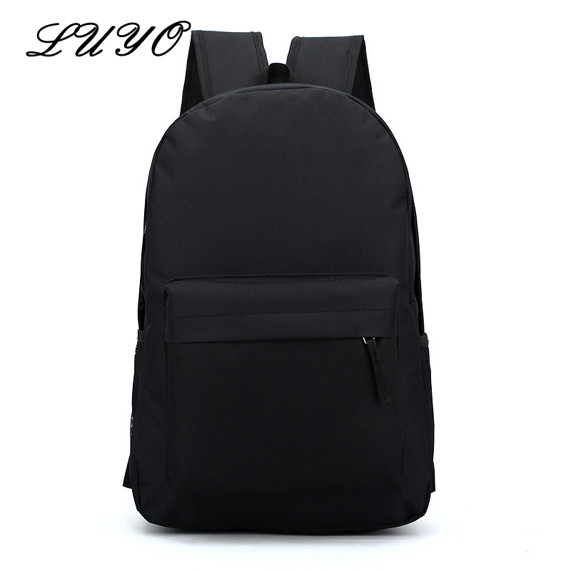 Direct Selling Solid Color Women Fashion Canvas Backpack Youth Male School Bags For Teenage Girls Teenagers Mochila Feminina