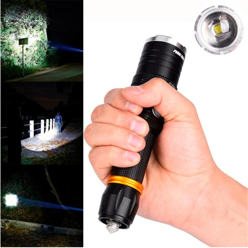 B2 3000 Lumen Zoomable Light XML T6 LED 18650 Flashlight Focus Torch Lamp Adjustable Camping & Hiking Wholesales&Retails