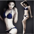 New sexy bikini women push up Crystal diamond Blue temperament Swimwear female  swimsuit bathing suit beachwear