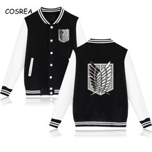 Titan Cosplay Sweatshirt Jacket Attack On Zipper Anime Costume Thickened Hooded-Coats