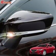Для Mazda 6 Atenza GJ 2013 хромированная задняя крышка зеркала боковой двери отделка полосы формования украшения автомобиля Стайлинг