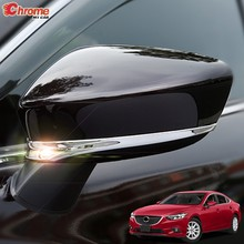 Pour Mazda 6 Atenza GJ 2013 2014 2015 2016 2017 Chrome Vue Arrière Rétroviseur extérieur Garniture de Bande de Décoration De Moulage de Voiture