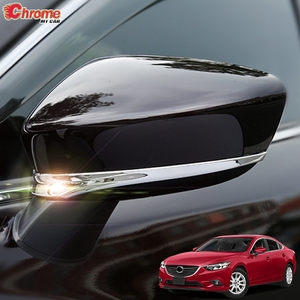 Image 1 - For Mazda 6 Atenza GJ 2013 2014 2015 2016 2017 Chrome Rear View Side Door Mirror Cover Trim Strip Molding Decoration Car Styling